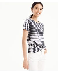 J.Crew - Supersoft Supima T-shirt In Stripes - Lyst