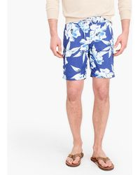 "J.Crew - 9"" Board Short In Large Blue Floral Print - Lyst"