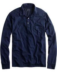 J.Crew - Tall Broken-in Long-sleeve Pocket Polo Shirt - Lyst