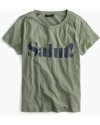 "J.Crew - ""salut!"" T-shirt - Lyst"