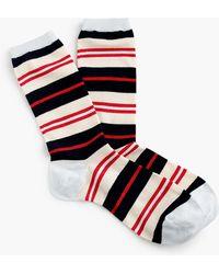J.Crew Trouser Socks In Colorful Stripe