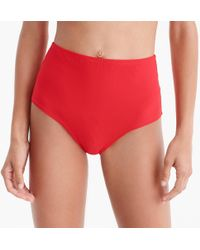 J.Crew - High-waisted Bikini Bottom In Piqué Nylon - Lyst