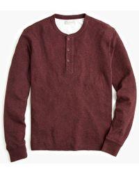 J.Crew - Double-knit Henley - Lyst