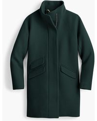 J.Crew Cocoon Coat In Italian Stadium-cloth Wool - Green