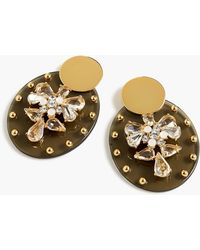 J.Crew - Lucite And Crystal Shield Earrings - Lyst