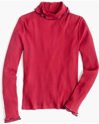 J.Crew - Contrast Ribbed Turtleneck - Lyst