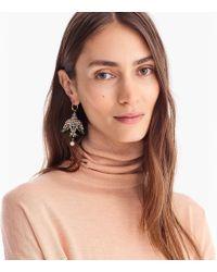 J.Crew - Leather-backed Beaded Bird Earrings - Lyst