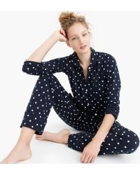 J.Crew - Dreamy Cotton Pajama Set In Polka Dots - Lyst