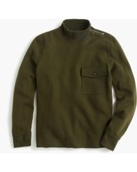 J.Crew - Wallace & Barnes Felted Merino Wool Mock Neck Pullover - Lyst