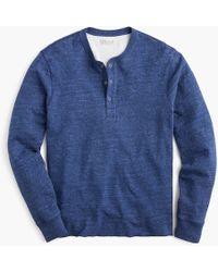 J.Crew - Tall Double-knit Henley - Lyst