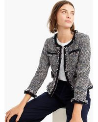 J.Crew - Petite Lady Jacket In Multicolour Metallic Tweed With Braided Trim - Lyst