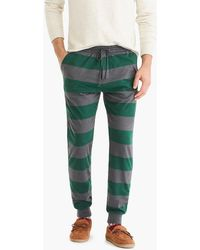 J.Crew - Jersey Pyjama Pant In Rugby Stripe - Lyst