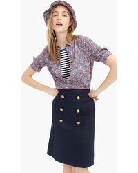 0602228c1 TOPSHOP Sailor Skirt in Blue - Lyst