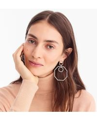 J.Crew - Pavé Octagon Earrings - Lyst