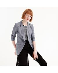 J.Crew - Petite Unstructured Blazer In Cotton-linen - Lyst