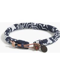 J.Crew - Mikia Bandana Bracelet In Navy - Lyst