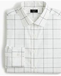 J.Crew - Ludlow Slim-fit Stretch Two-ply Easy-care Cotton Dress Shirt In Windowpane - Lyst