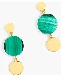 J.Crew - Demi-fine 14k Gold-plated Malachite Earrings - Lyst
