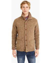 J.Crew - Donegal Wool Mockneck Cardigan Sweater - Lyst