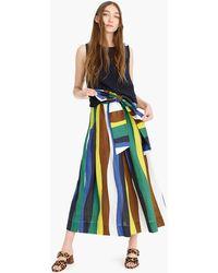 WHIT Kimani Striped Linen Skirt