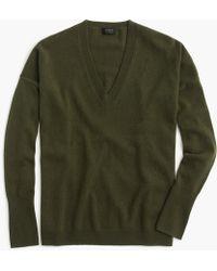 J.Crew - V-neck Boyfriend Sweater In Everyday Cashmere - Lyst