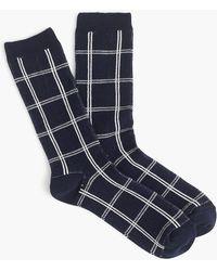 J.Crew - Trouser Socks In Windowpane - Lyst