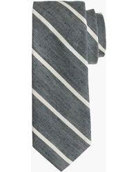 J.Crew - English Linen-cotton Tie In Thin Stripe - Lyst
