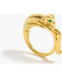 J.Crew - 14k Gold-plated Monkey Ring - Lyst