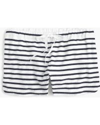 J.Crew - Striped Terry Short - Lyst