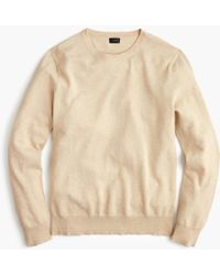 J.Crew - Cotton-cashmere Piqué Crewneck Jumper In Bird's-eye Stitch - Lyst