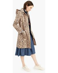 780d1232545f J.Crew - Leopard-print Trench Coat With Removable Hood - Lyst