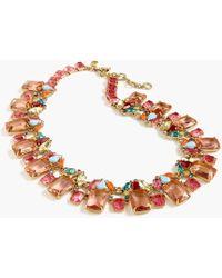 J.Crew - Cluster Drop Stone Necklace - Lyst