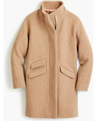 J.Crew Cocoon Coat In Italian Stadium-cloth Wool - Natural