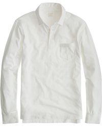 J.Crew - Broken-in Long-sleeve Pocket Polo Shirt - Lyst