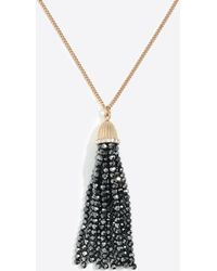 J.Crew - Sparkle Beaded Tassel Pendant Necklace - Lyst