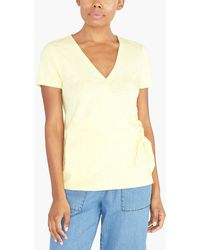 e8a63cf038ea Lyst - J.Crew Embroidered Tie-sleeve T-shirt in Yellow