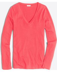 7a3ca0213967 J.Crew - Tissue Long-sleeve V-neck T-shirt - Lyst