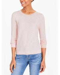 Lyst Jcrew Slub Cotton Teddie Sweater In Pink