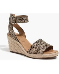 af7a5c91b1b7 J.Crew - Calf Hair Espadrille Wedge Sandals - Lyst