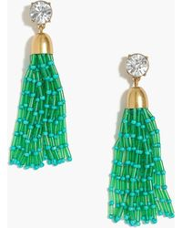 J.Crew - Mixed Beaded Tassel Earrings - Lyst