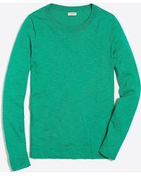 Lyst Jcrew Slub Cotton Teddie Sweater In Green