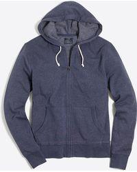 J.Crew - Lightweight Fleece Full-zip Hoodie - Lyst