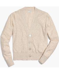 J.Crew V-neck Slub Cotton Cardigan - Natural