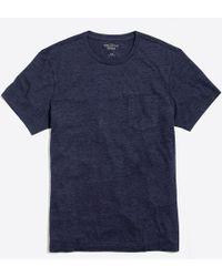 J.Crew - Slim Heathered Washed Pocket T-shirt - Lyst