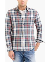 J.Crew - Rugged Elbow-patch Shirt In Red Plaid - Lyst
