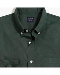 14a9fdb4 Lyst - Banana Republic Slim-fit Contrast Linen Cotton Shirt in White ...