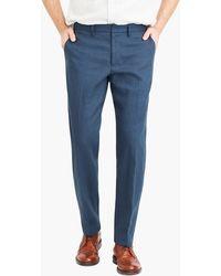J.Crew Bedford Dress Pant In Linen-cotton