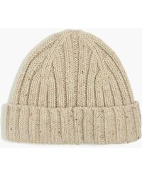 Lyst - Drake s Donegal Wool Beanie in Red for Men 468e7137940