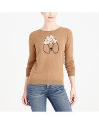 Lyst Jcrew Slub Cotton Teddie Sweater In Red
