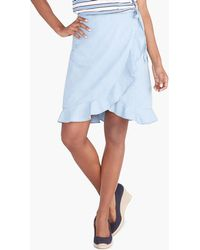 086c65976d6f J.Crew Side-button Skirt In Chambray in Blue - Lyst
